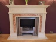 Bespoke hand-carved stone fireplace