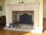 Hand-carved stone fire surrounds