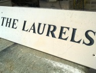 Stone Hand-Engraved Name Plaque