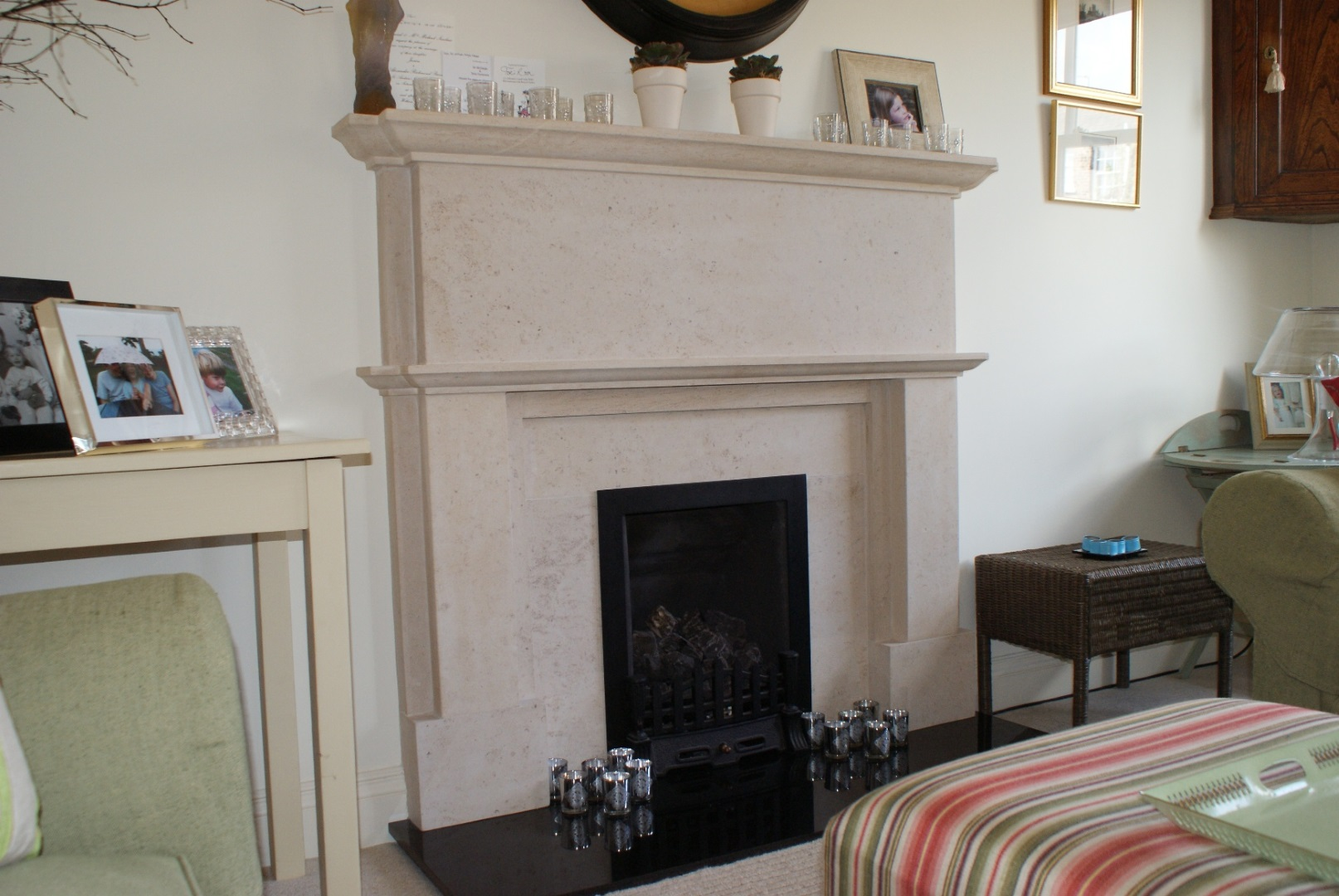 Gallery of Fireplaces and Art by The Stone Fireplace Company