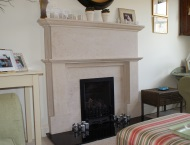 Traditional stone fire surrounds