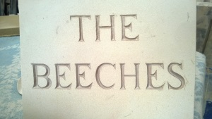 Engraved Name Plaque - The Beeches