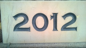 Engraved Stone Name Plaque - 2012