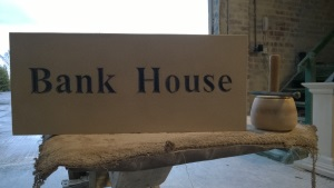 Natural Stone Engraved Sign - Bank House