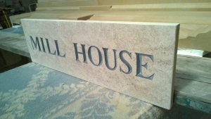 Natural Stone Sign - Mill House